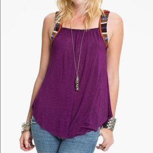 Free People tank top beading and embroidery